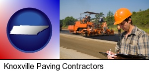 a paving contractor with paving machinery in Knoxville, TN