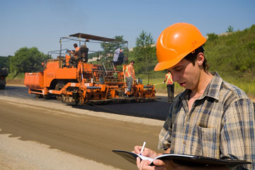 a paving contractor with paving machinery